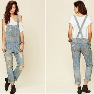 $168 Free People Stephens Relaxed Overalls sz 26